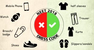 NEET 2018 Dress Code and Barred Items