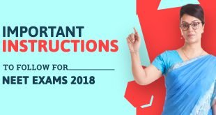 Important Instructions to Follow for NEET Exam 2018